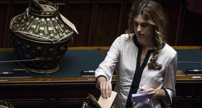 Marianna Madia partecipa al voto