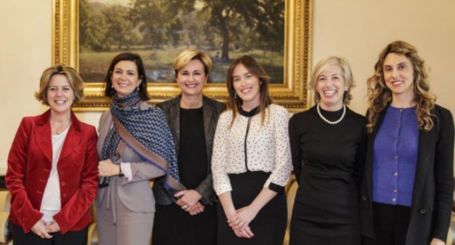 Laura Boldrini incontra le ministre
