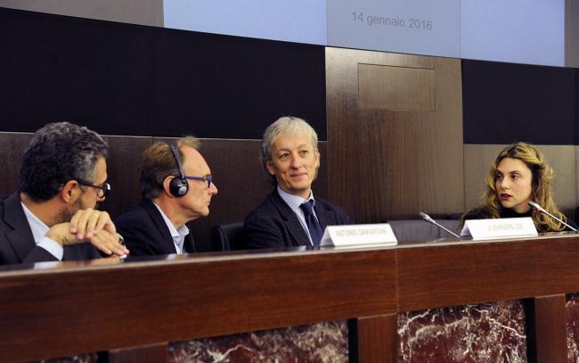 Antonio Samaritani, Tim Berners-Lee, Riccardo Luna e Marianna Madia