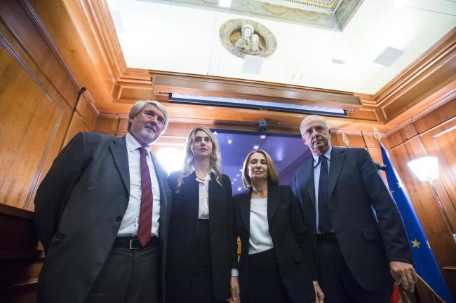 G. Polettii, M. Madia, O. D'Antona, W. Veltroni